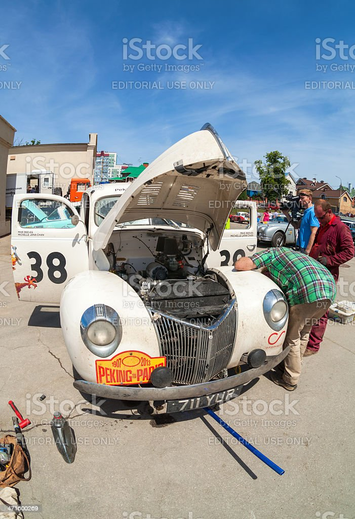 Repair the Ford Coupe 1940 year royalty-free stock photo