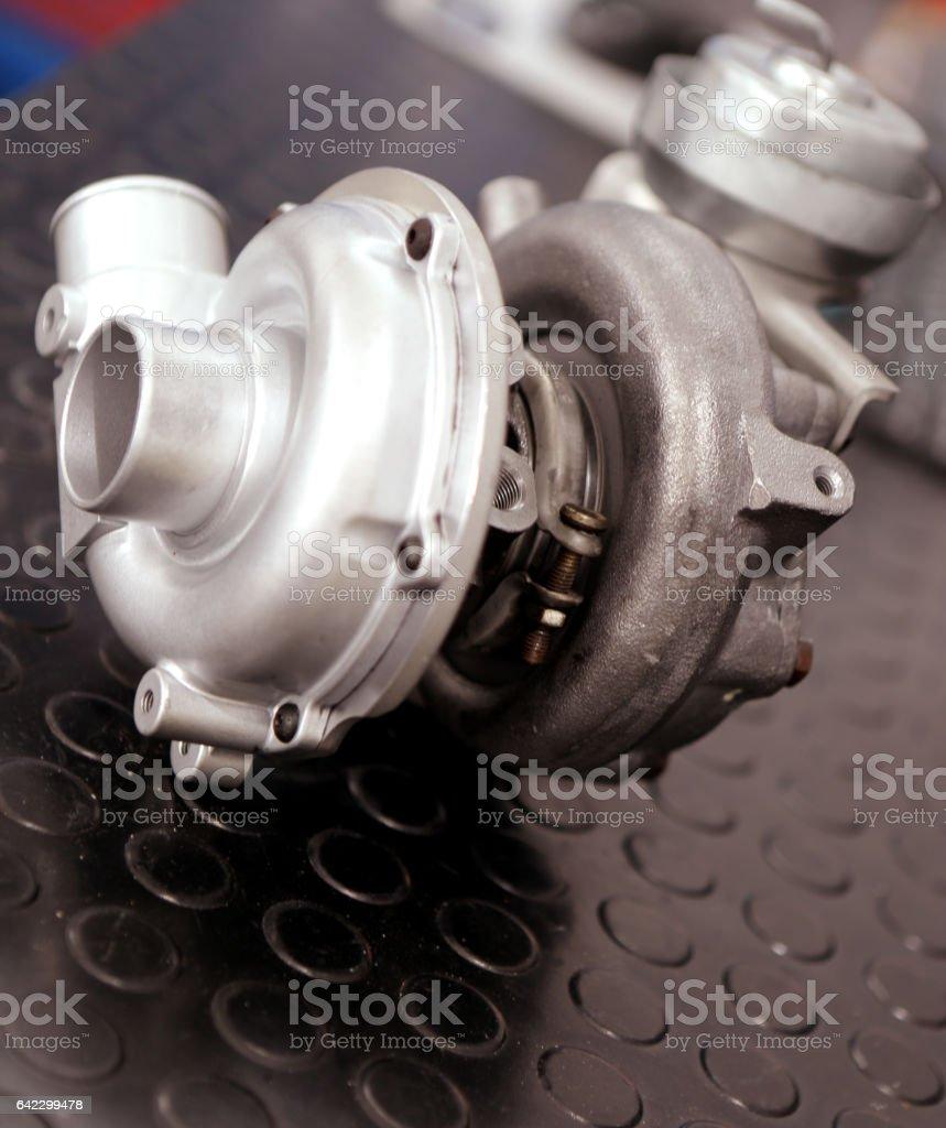 Repair turbocharger stock photo