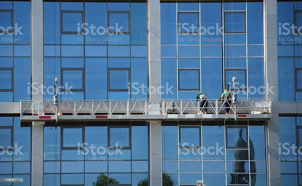 Repair work outside royalty-free stock photo