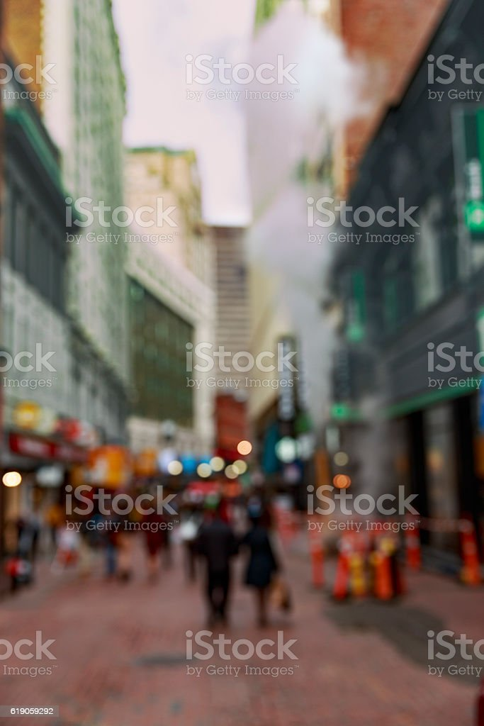 repair works and steam on a city street stock photo