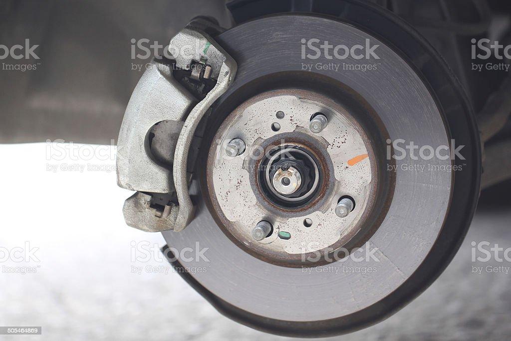 repaired equipment of car brake disc. stock photo