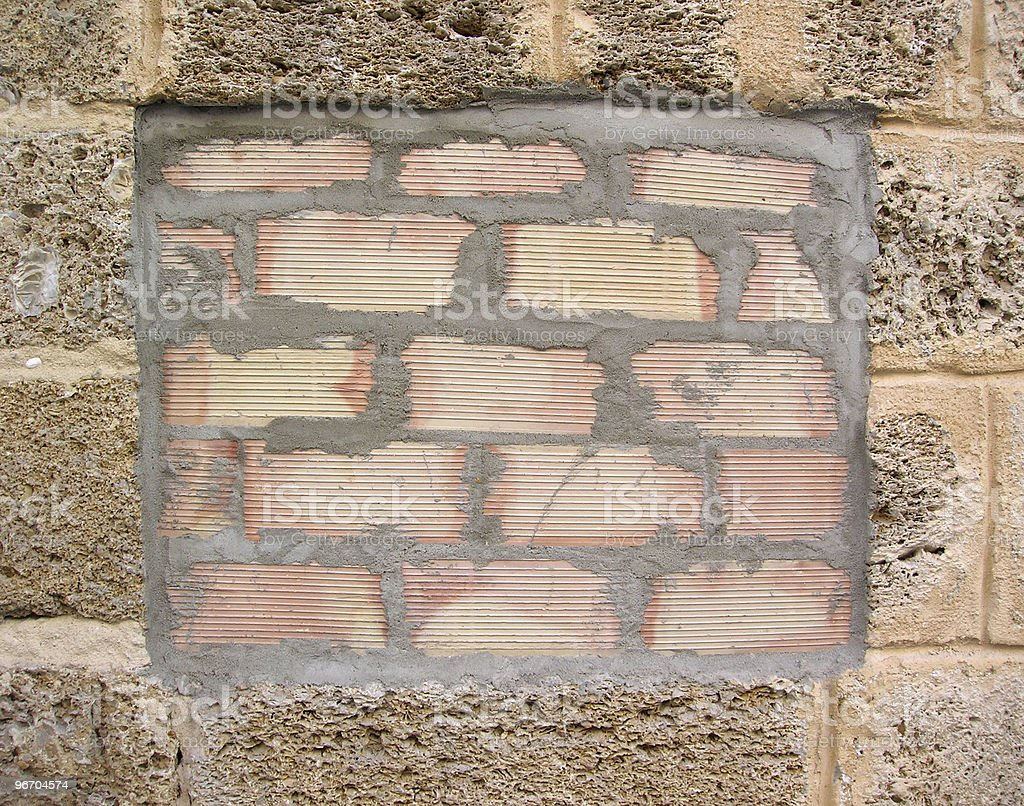 Repaired Wall royalty-free stock photo