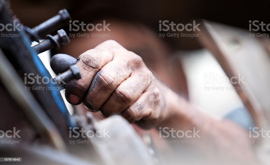 Repairing a truck stock photo