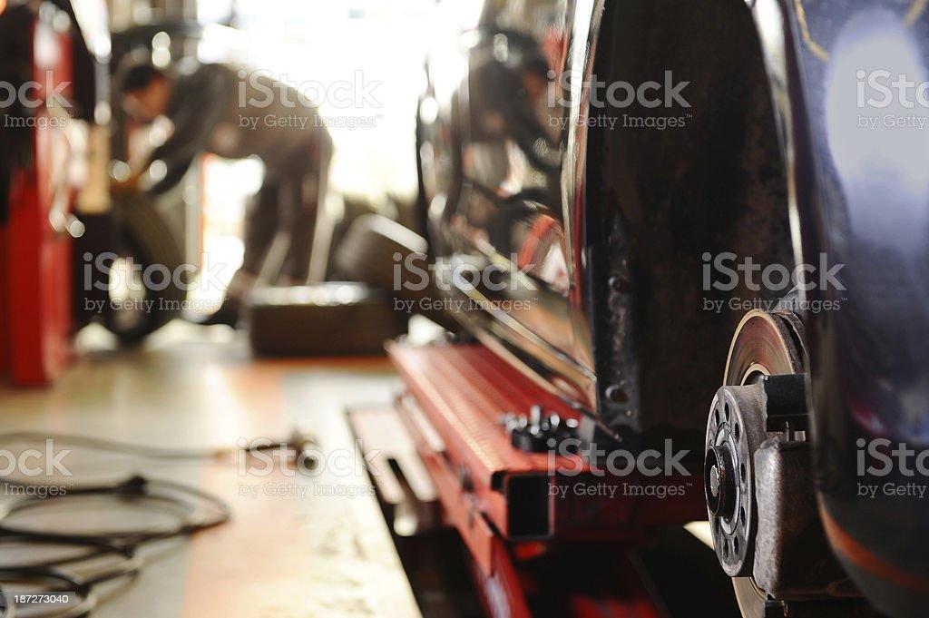 Repairing brake disc stock photo