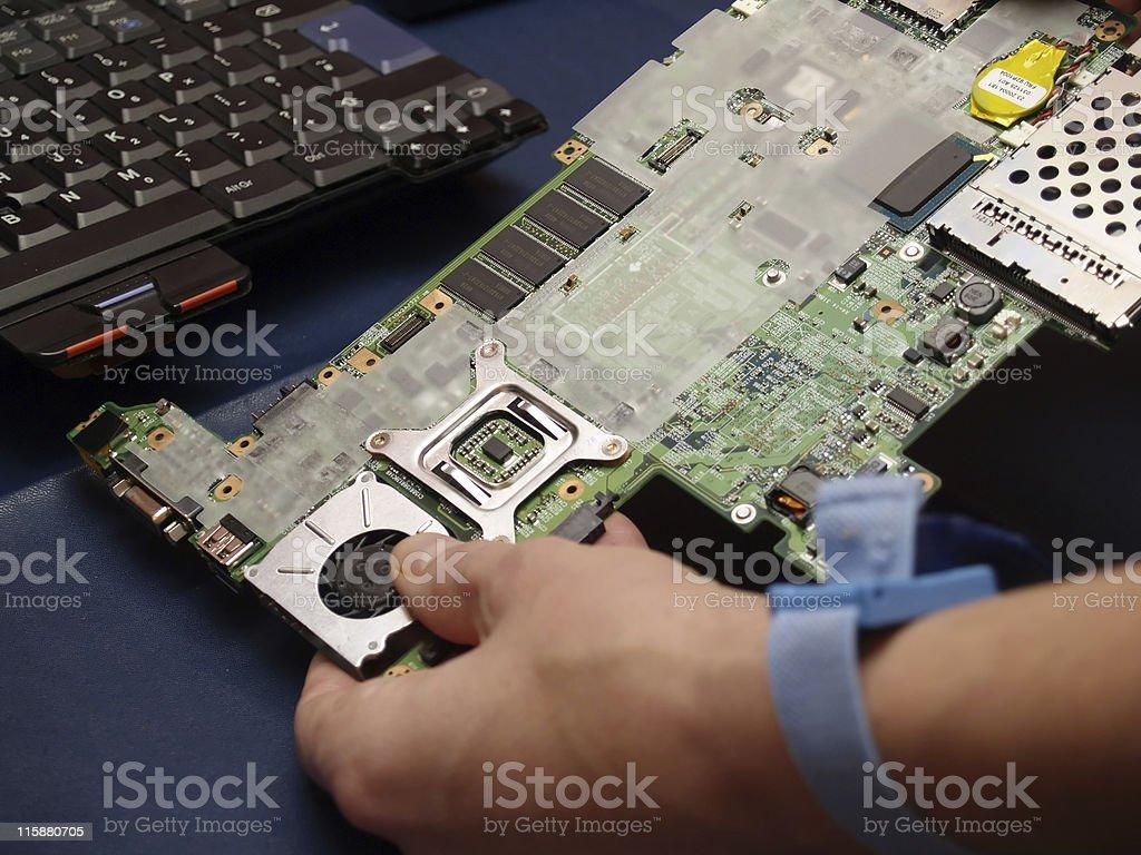 Repairing Electronics stock photo