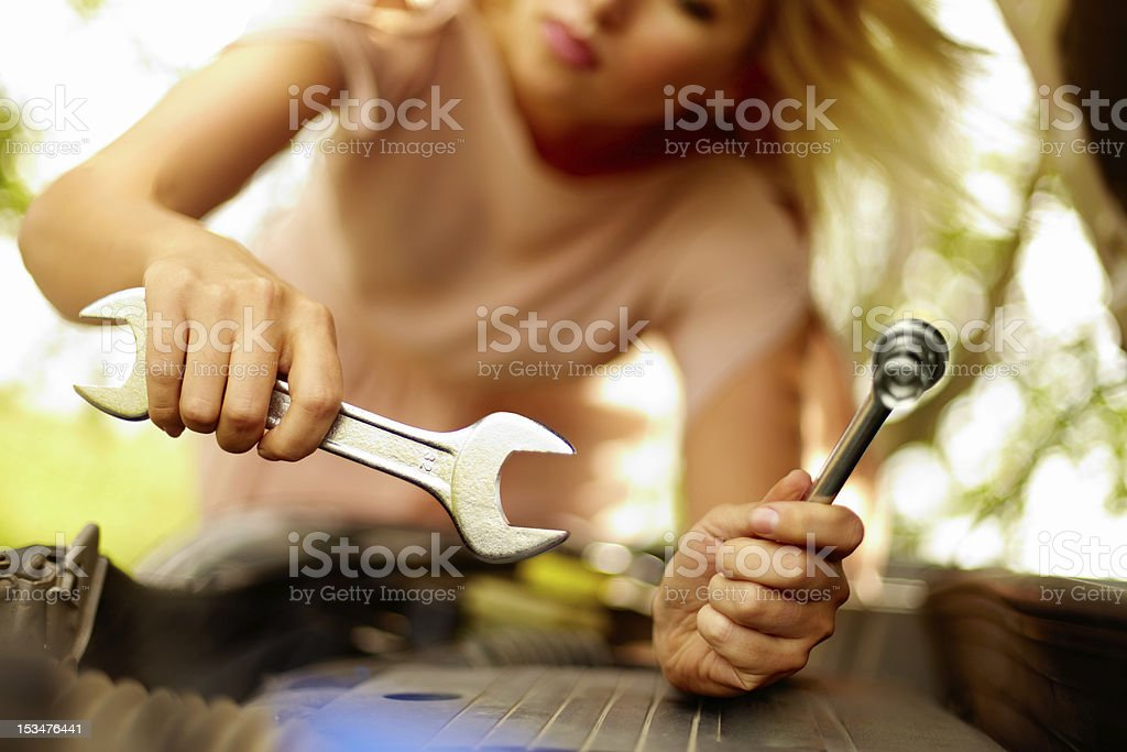 Repairing engine royalty-free stock photo