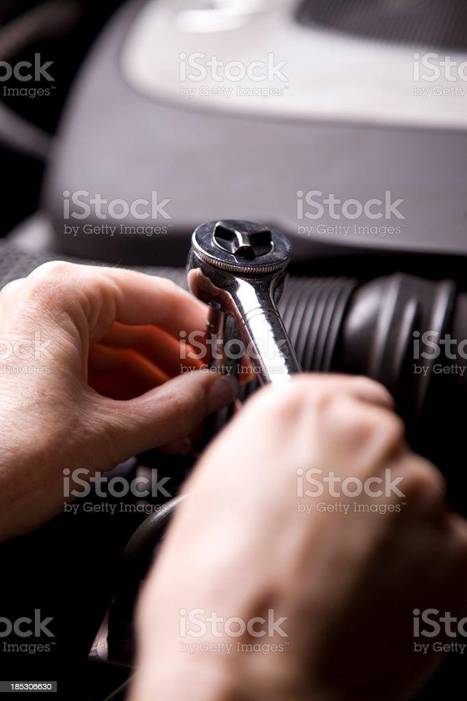 Repairing Engine royalty-free stock photo