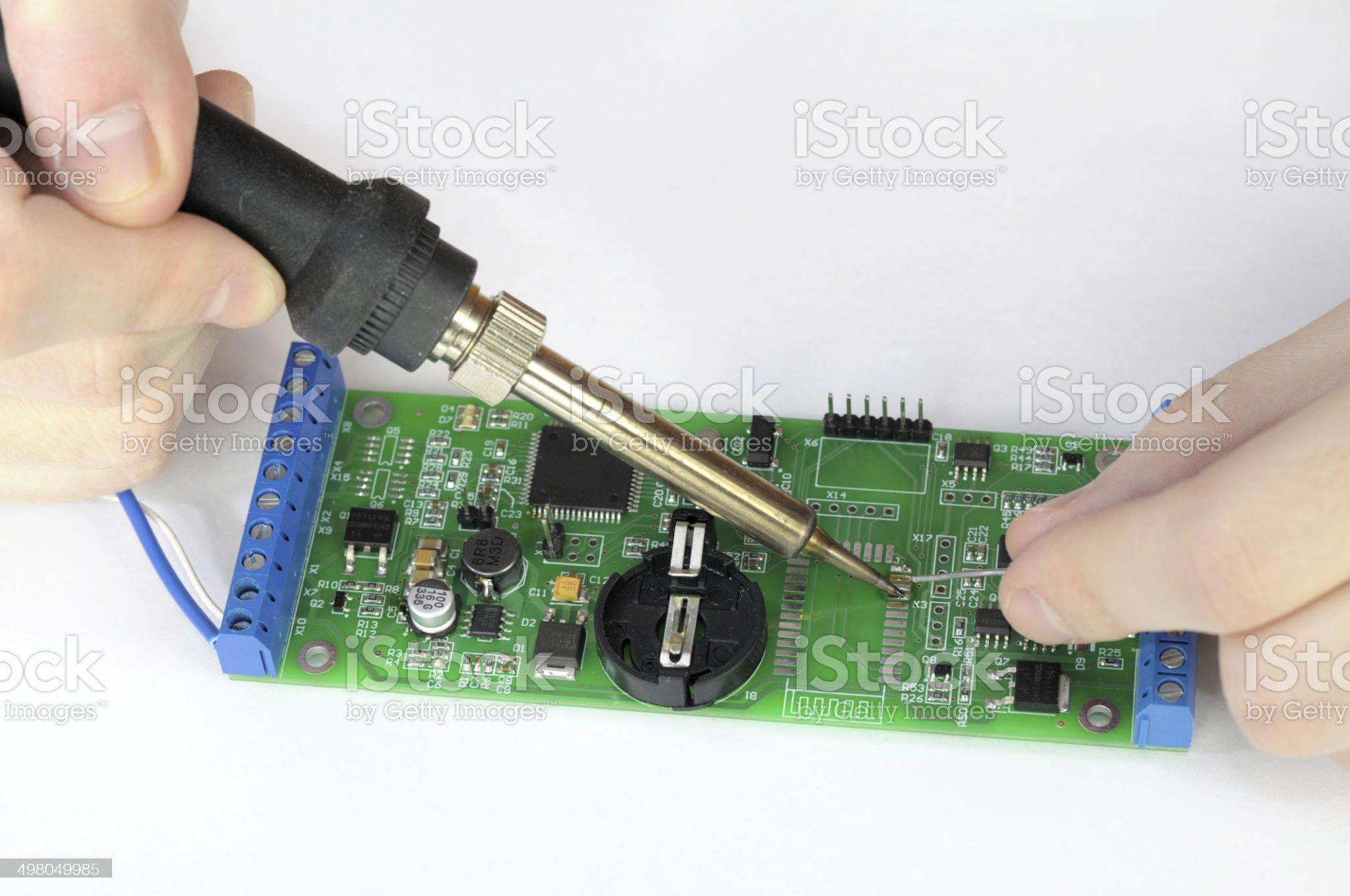 Repairing pc board royalty-free stock photo