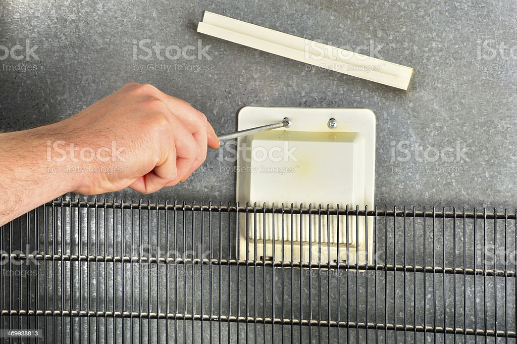 Repairing Refrigerator (Click for more) royalty-free stock photo