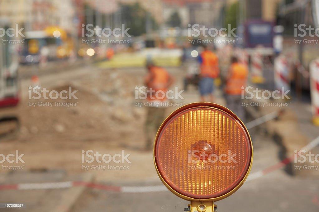 Repairing road stock photo