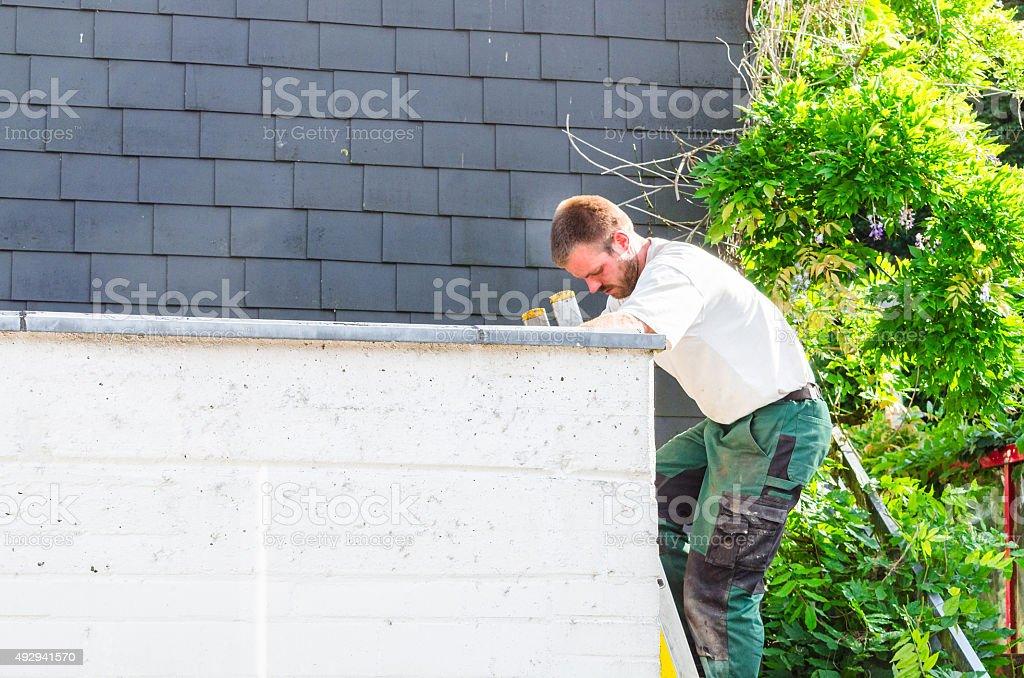 Repairing roof stock photo