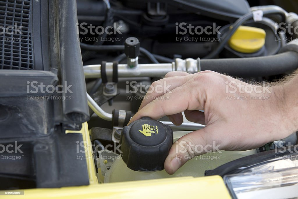 repairing the car royalty-free stock photo