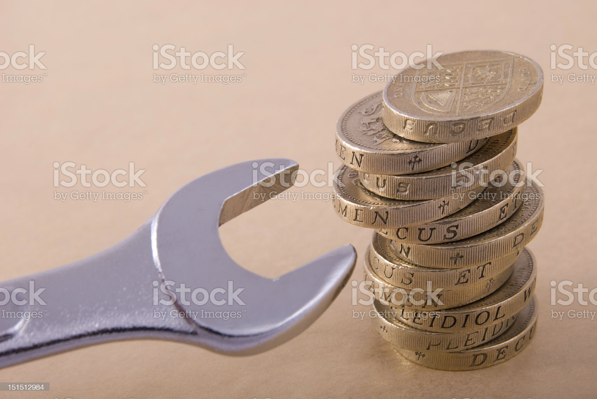 Repairing the Pound royalty-free stock photo