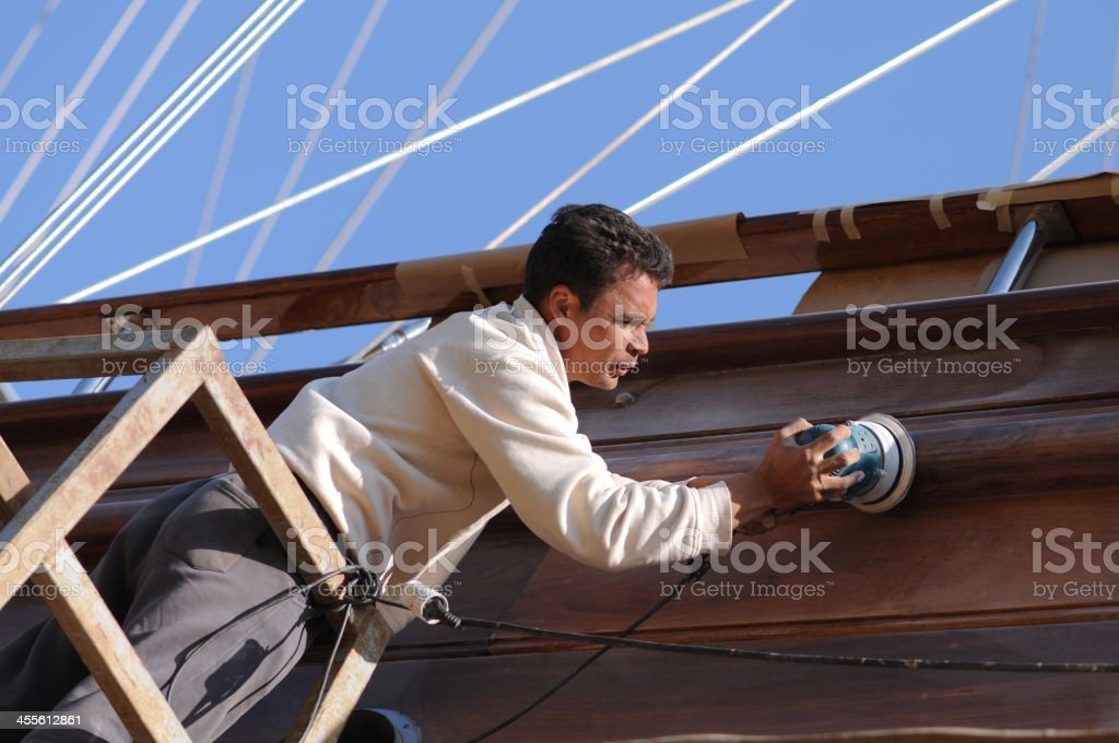Repairing the ship royalty-free stock photo