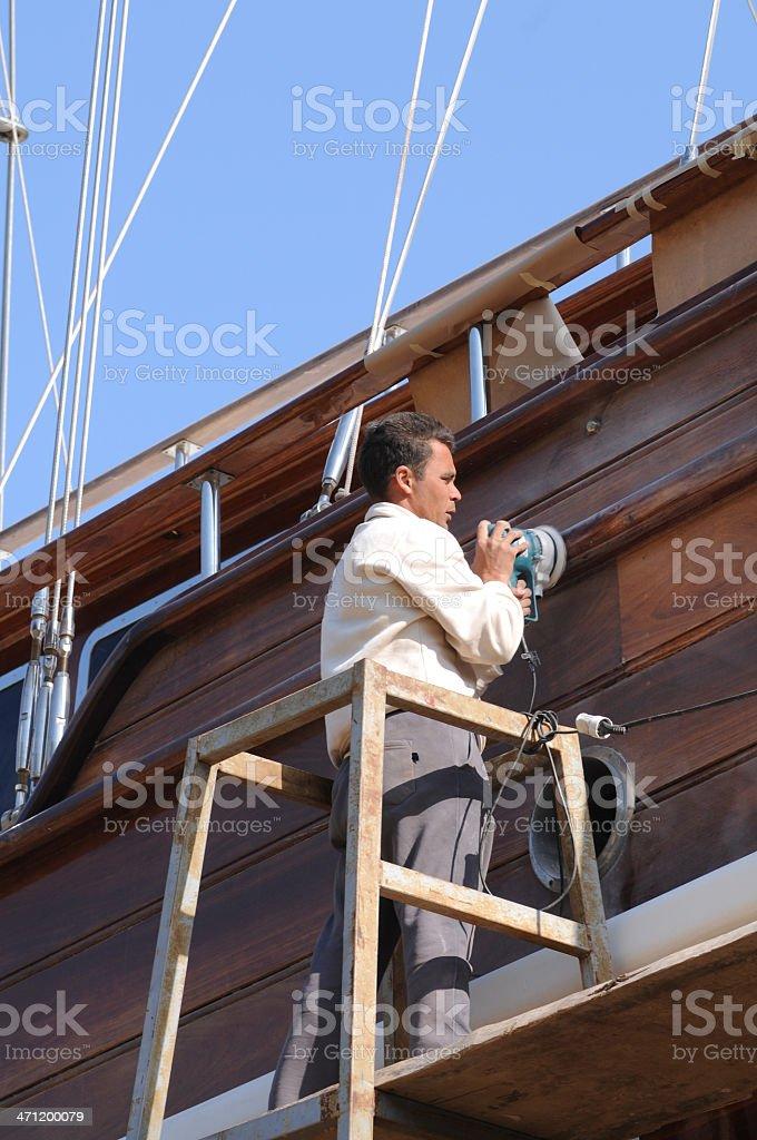 Repairing the ship royalty-free stock photo