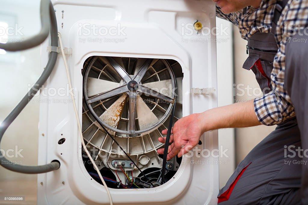 Repairing Washing Machine stock photo