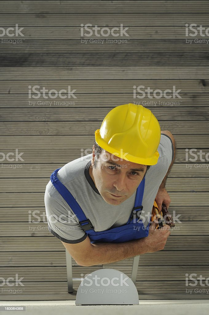 Repairman at work royalty-free stock photo