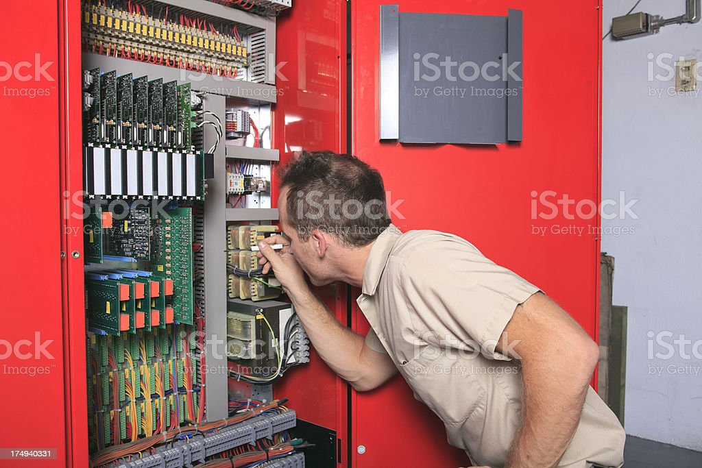 Repairman - Elevator stock photo