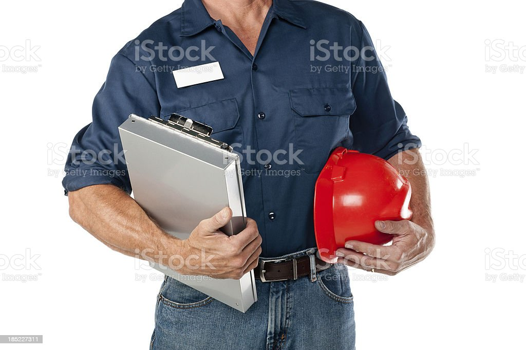 Repairman In Uniform royalty-free stock photo