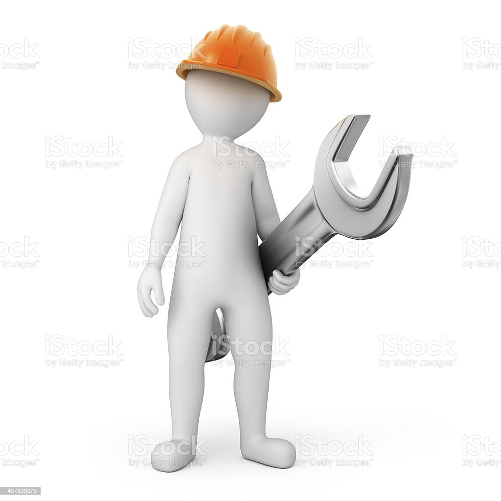repairman with a spanner stock photo