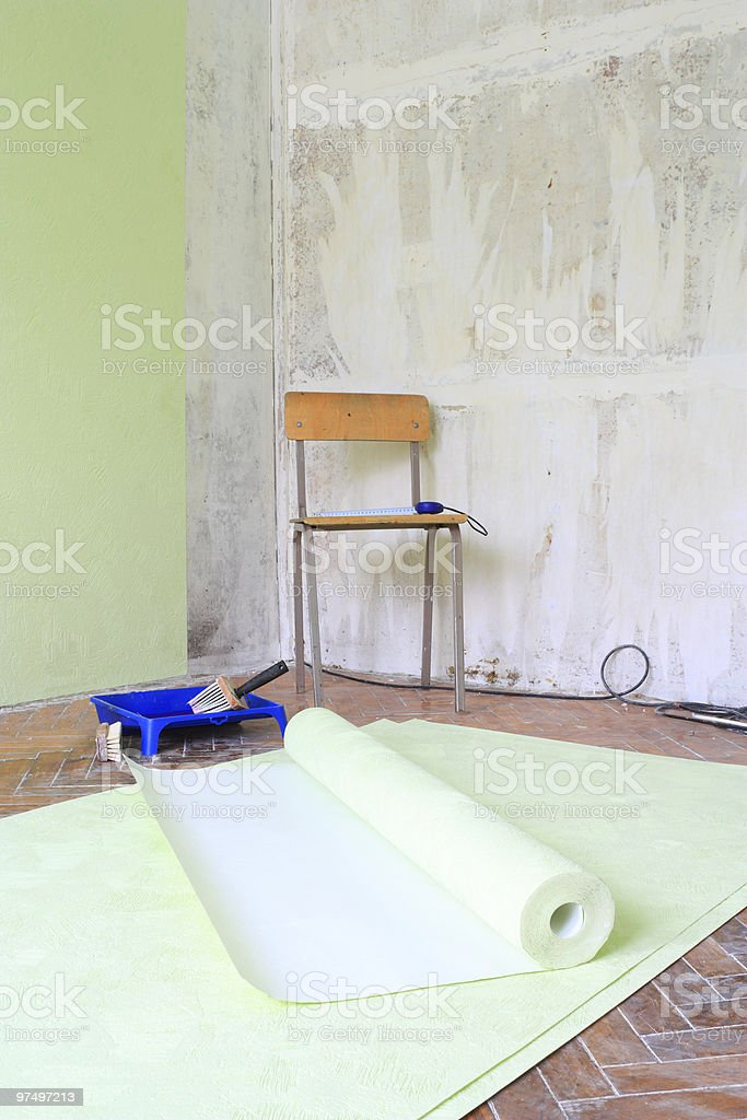 repairs in the room royalty-free stock photo