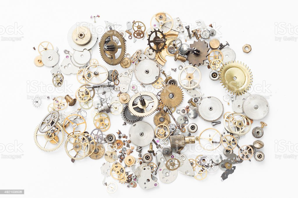Reparation and restoration of watches stock photo