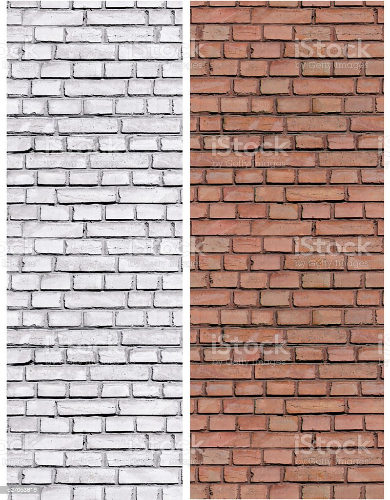 repeat old brickwork brown and white brick stock photo