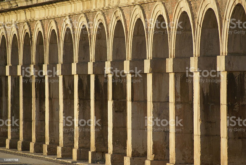 Repeated Archways royalty-free stock photo