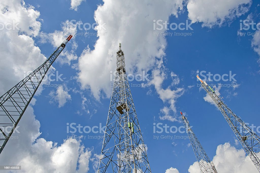 Repeater towers royalty-free stock photo