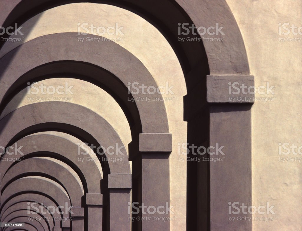Repeating Archways, Italy royalty-free stock photo