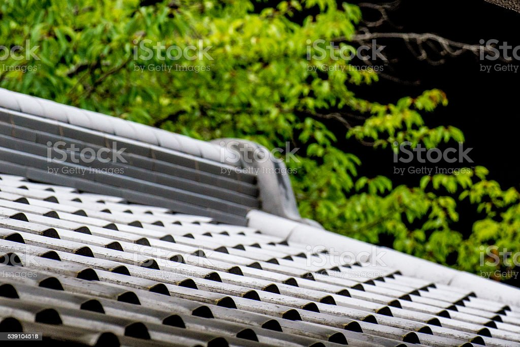 repetition pattern for japanese roof stock photo