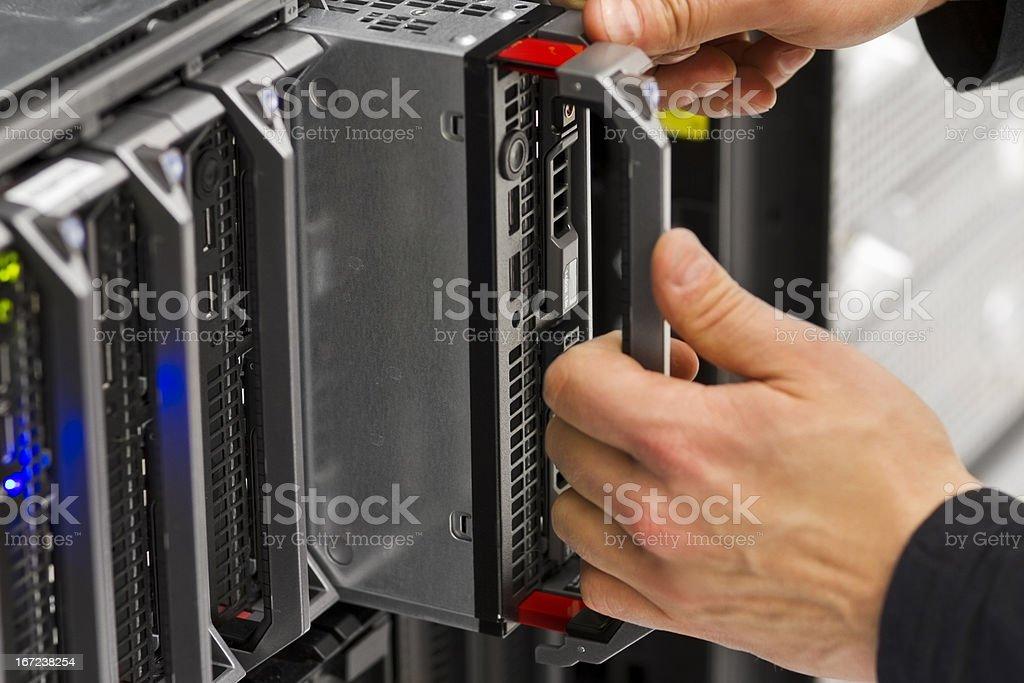 Replace Blade Server stock photo