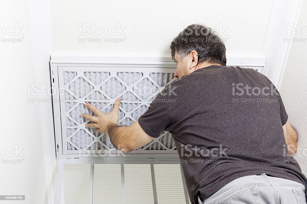 Replacing AC Filter royalty-free stock photo