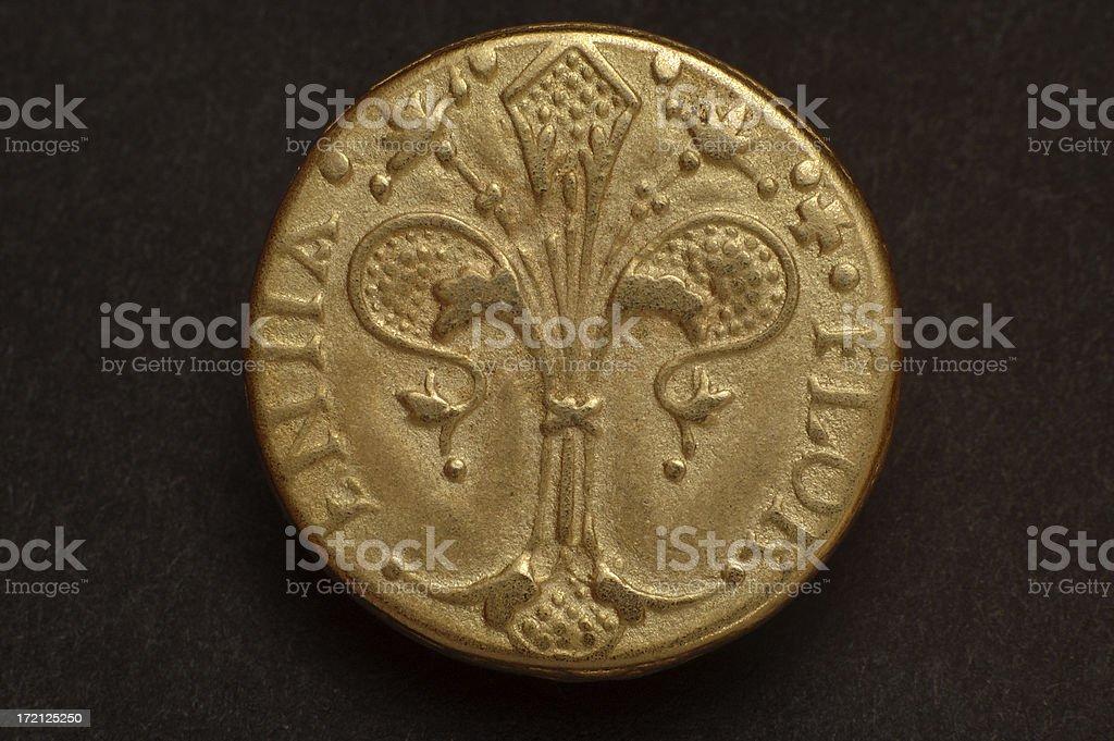 Replica of a gold roman coin royalty-free stock photo