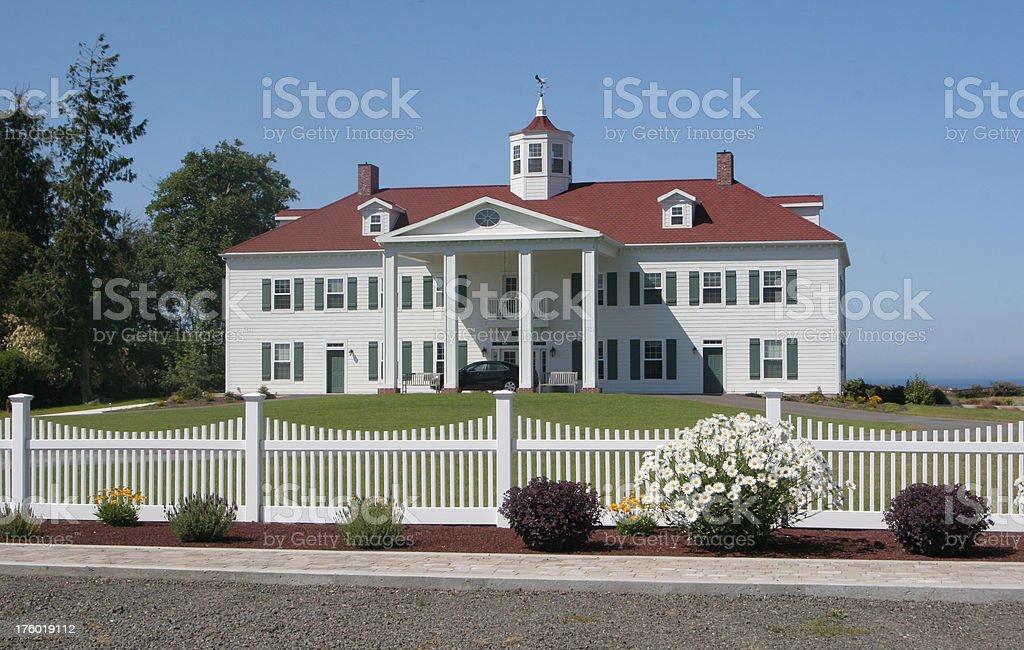 Replica of George Washington's Home royalty-free stock photo