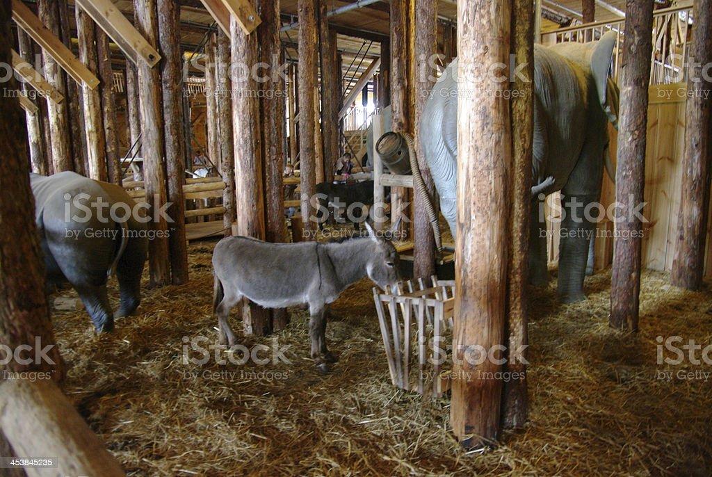 Replica of the Ark Noah stock photo