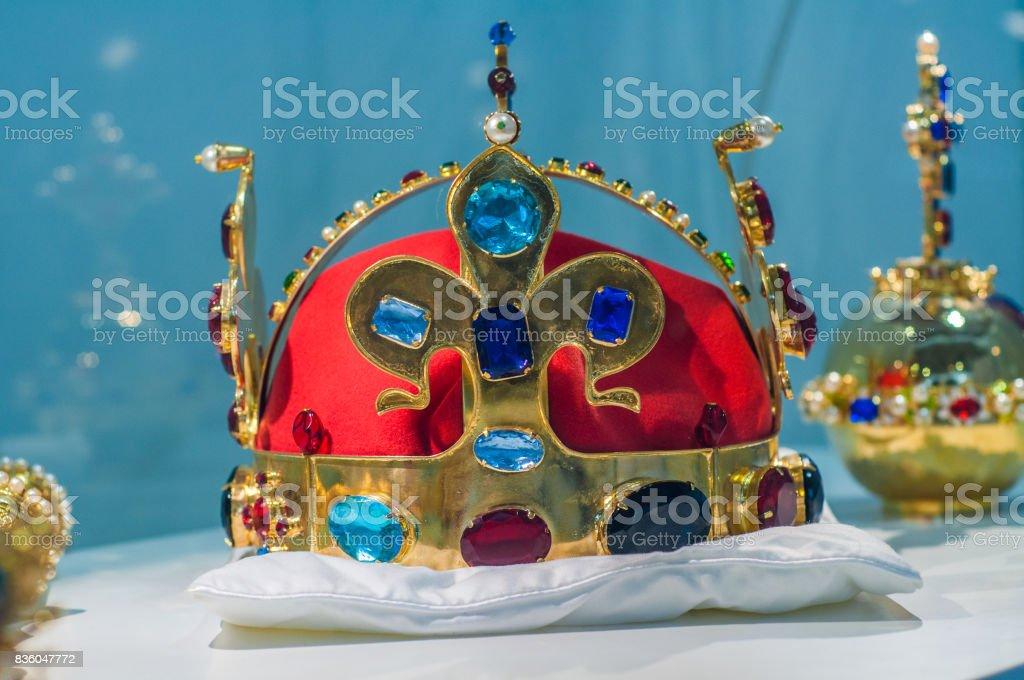 Replica of the Bohemian Crown Jewels stock photo