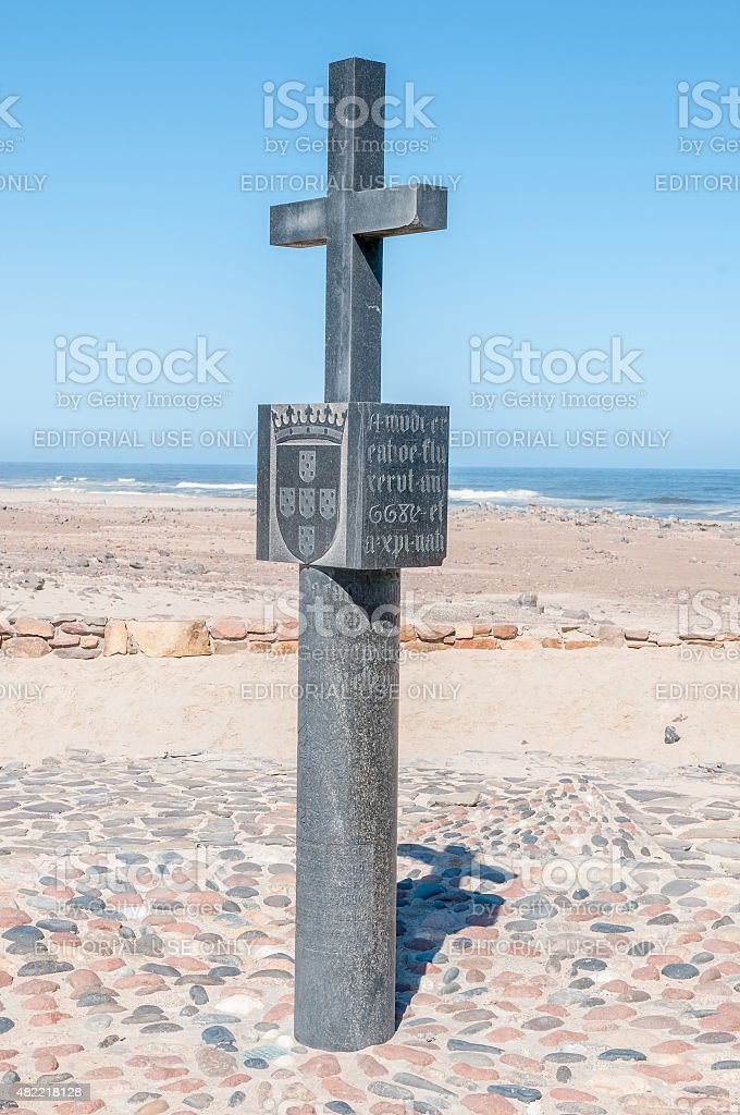 Replica of the cross planted by Diogo Cao stock photo