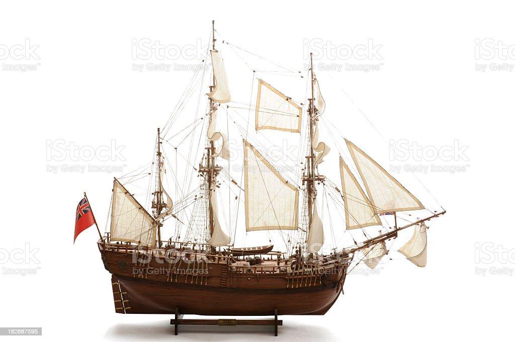 Replica of the HMS Endeavour stock photo