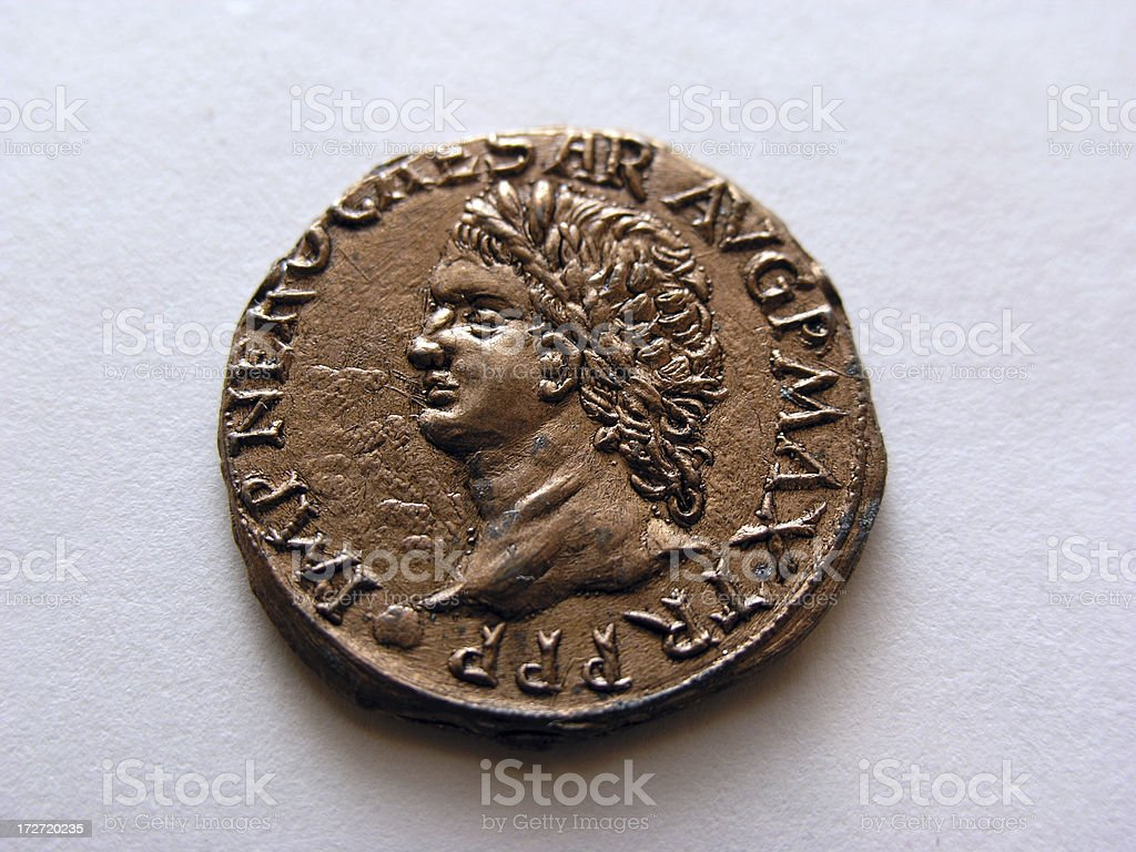 Replica Roman Coin stock photo