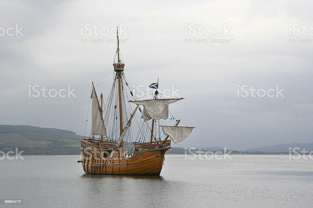 replica ship stock photo