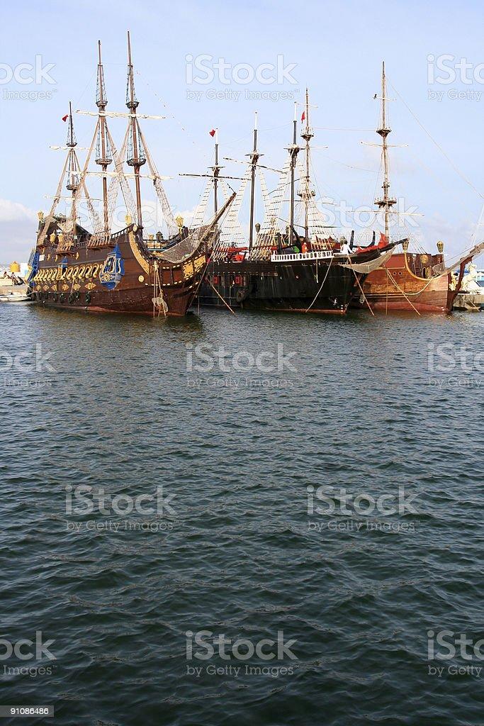 Replica Ships royalty-free stock photo