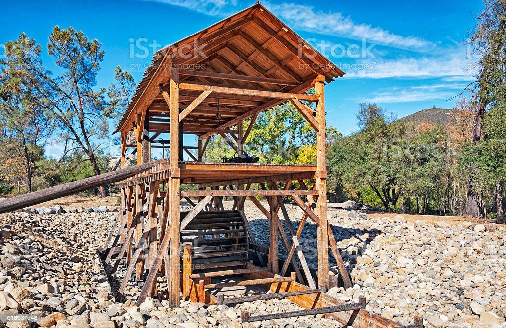 Replicia Sutter's Sawmill Coloma California stock photo