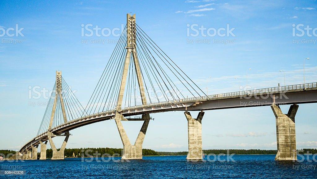 Replot Bridge: Finland's longest bridge. stock photo