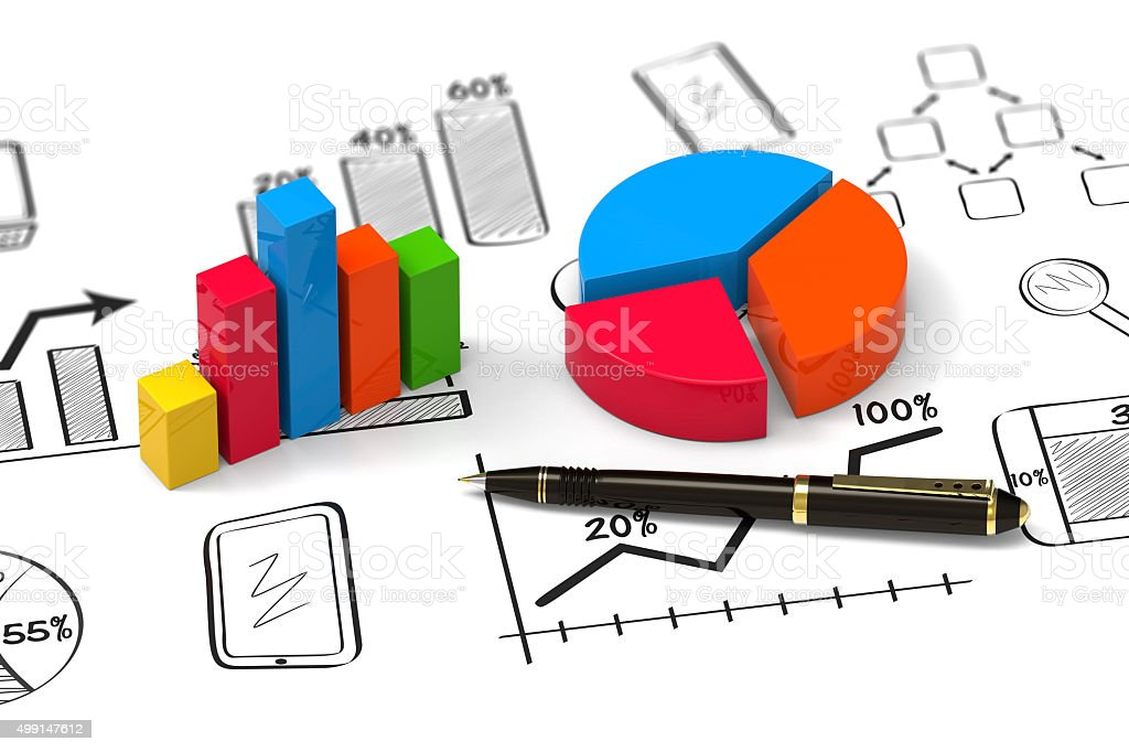 Report as concept stock photo