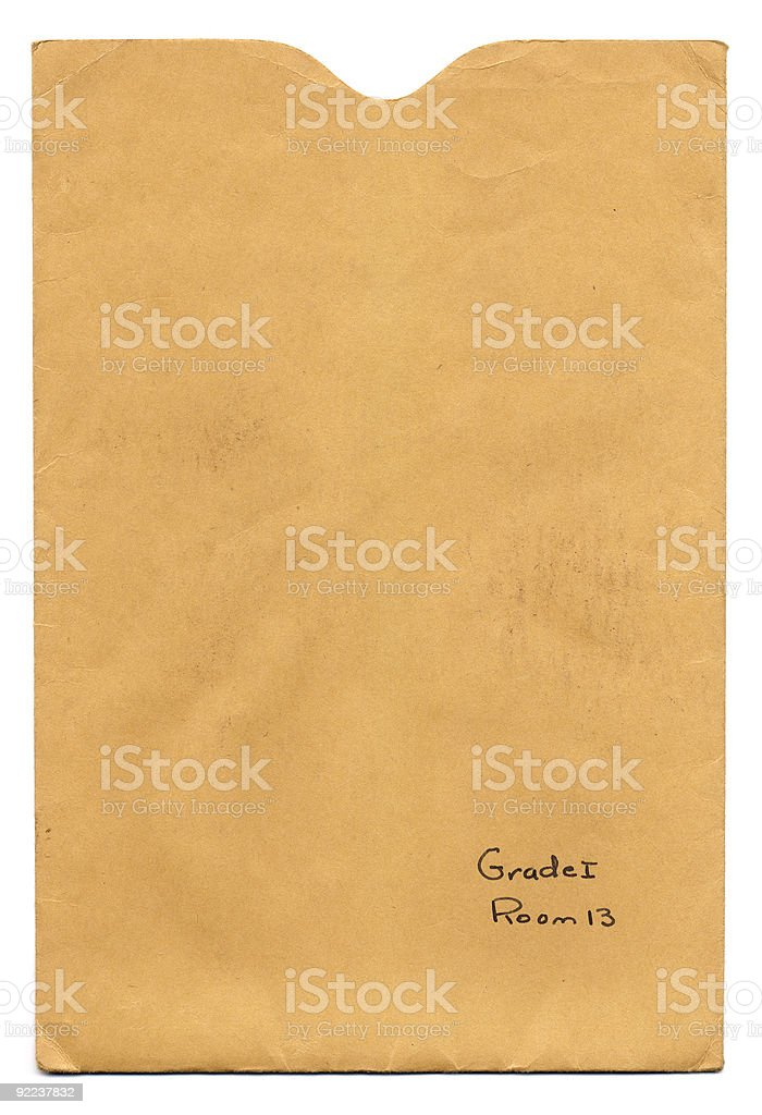 Report Card Envelope stock photo