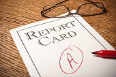 Report card on a desk