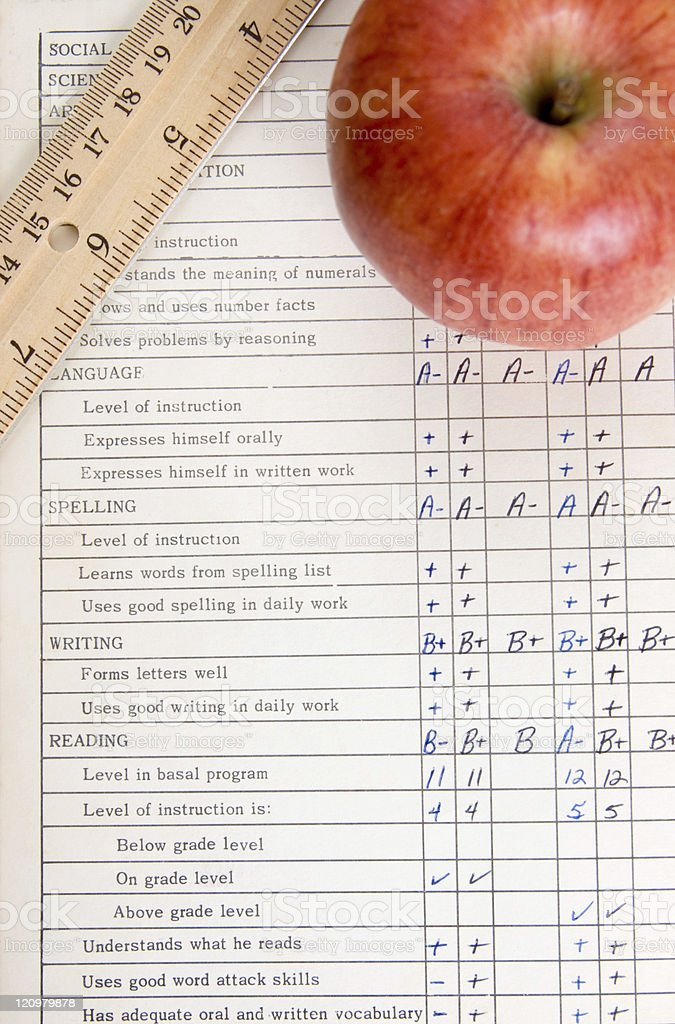 Report Card royalty-free stock photo