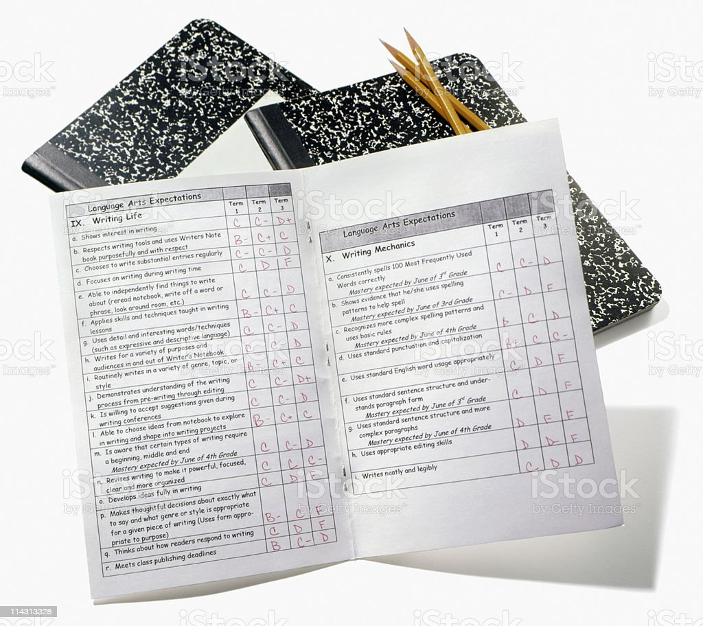 report cards royalty-free stock photo