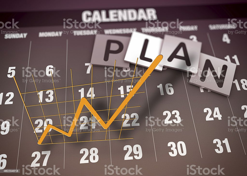 Report charts concept stock photo